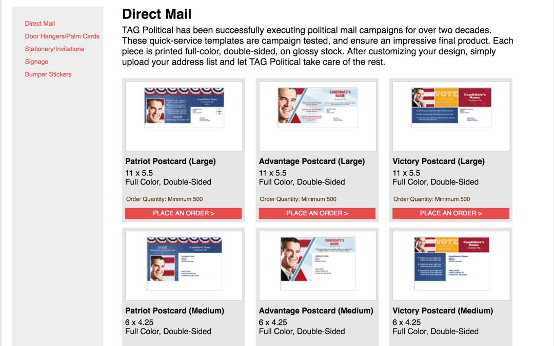 TAG Political Expands With Online Print & Direct Mail HQ