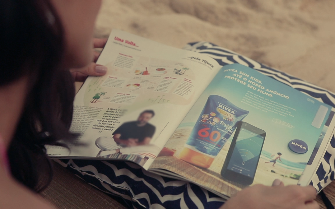 Nivea Print Campaign Becomes Kid Tracker for Beach Day